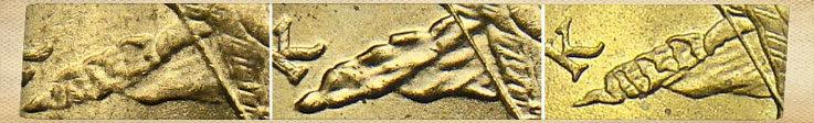Отличия между складками у монеты 10 копеек 2000 года