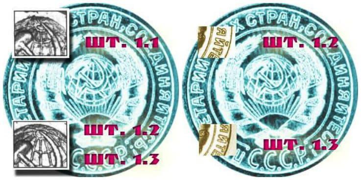 Отличия между разновидностями монеты 2 копейки 1926 года