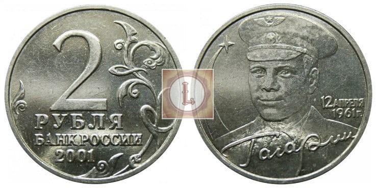 2 рубля 2001 года без знака монетного двора