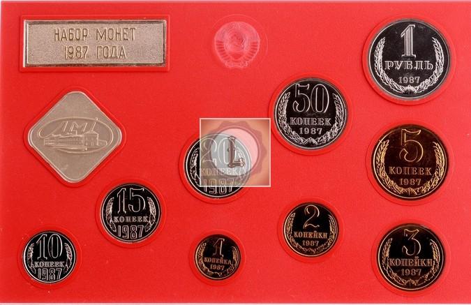 20 копеек 1987 года годовой набор