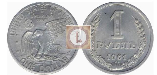 Жетон «Рубль-доллар»