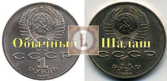 1 рубль 1986 года Международный год мира шалаш