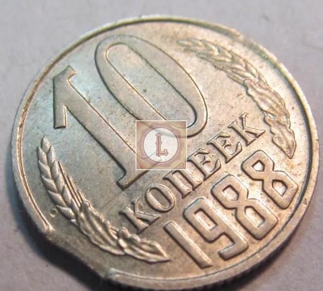 10 копеек 1988 года выкус